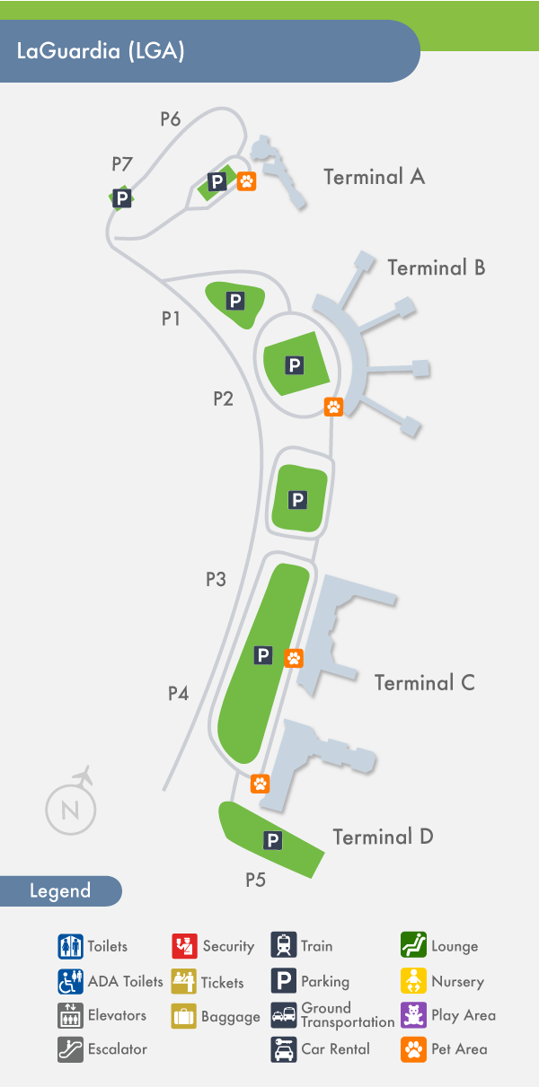 Mapa Aeropuerto LaGuardia