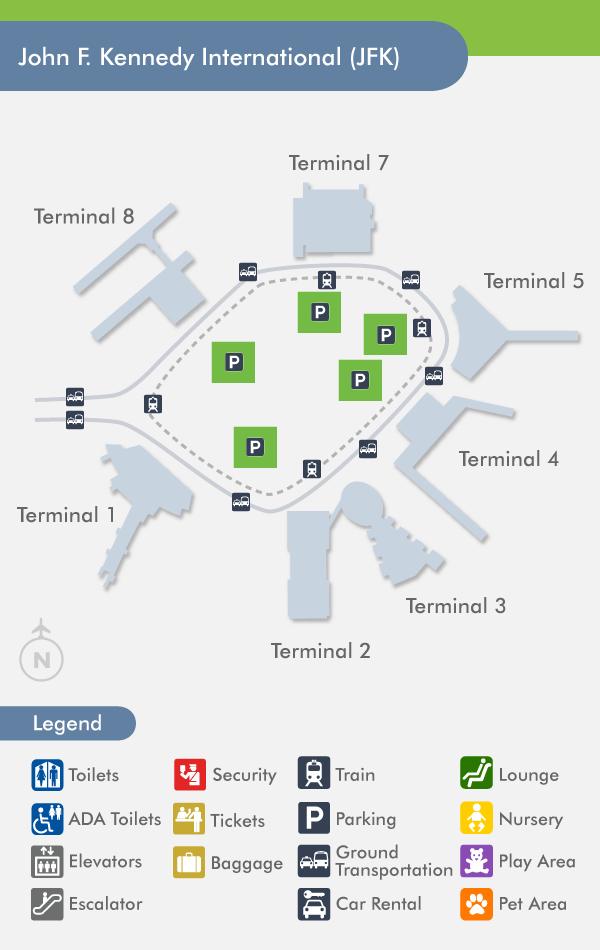 mapa aeropuerto JFK
